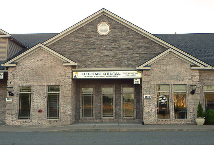 Outside view of Lifetime Dental in Feeding Hills, MA