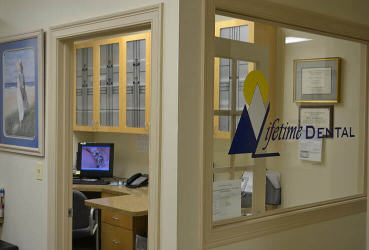 Interior look at Lifetime Dental