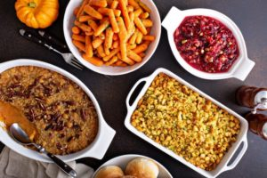 holiday meal spread